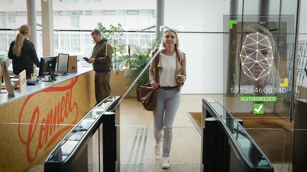 AI on Boon Edam Optical Turnstiles Allow for Touchless Entry While Detecting Tailgating