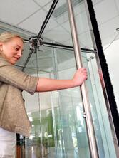 Boon Edam BoonAssist TQ Revolving Door with Safety Features