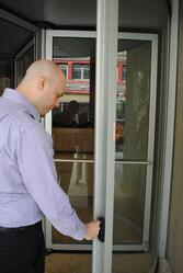 Boon Edam Revolving Door with Access Control for Afterhours Access