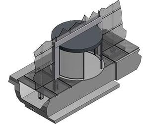 3D model speciale gevelaansluiting draaideur Markthal