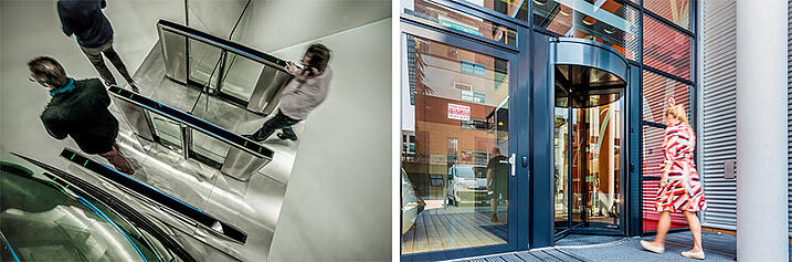 Optical Turnstiles and Security Revolving Doors for Building Security