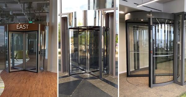 Tourlock Security Revolving Door with Custom Finishes