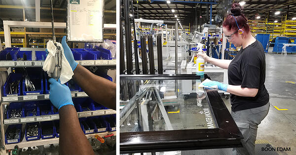 During COVID-19 Boon Edam's Lillington, NC Factory Conducted Research to Build the Ideal Work Environment for Worker Safety