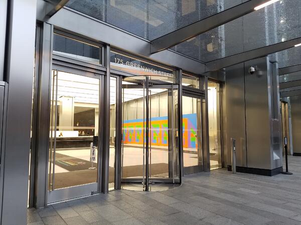 Architectural Revolving Doors with Security Features for Afterhours Access and Emergency Remote Locking