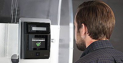Pair security turnstiles and doors with biometrics to allow for touchless entry while detecting and preventing tailgating and piggybacking