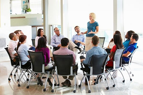 Schedule meetings with employees to discuss new security entrances