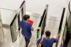 optical turnstiles work with security guards to address tailgating