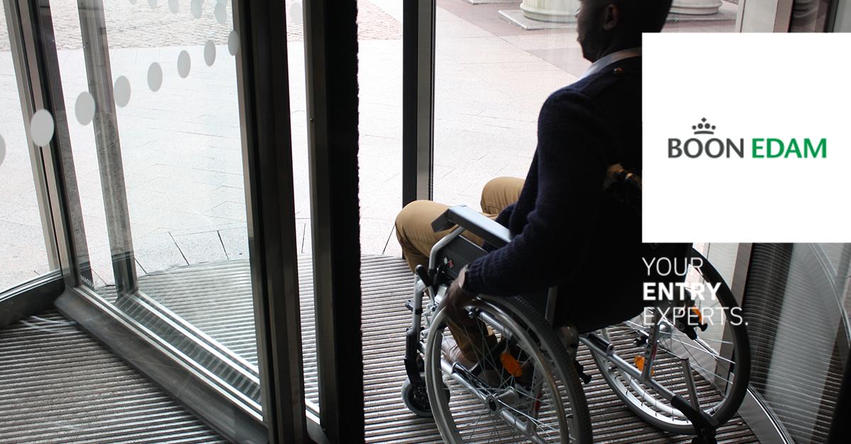 Wanneer is een draaideur toegankelijk voor mensen met een beperking? | Boon Edam