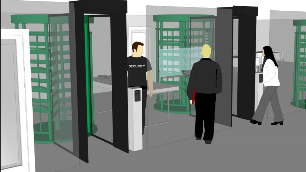 Los torniquetes de altura completa de seguridad aseguran los centros de distribución del robo