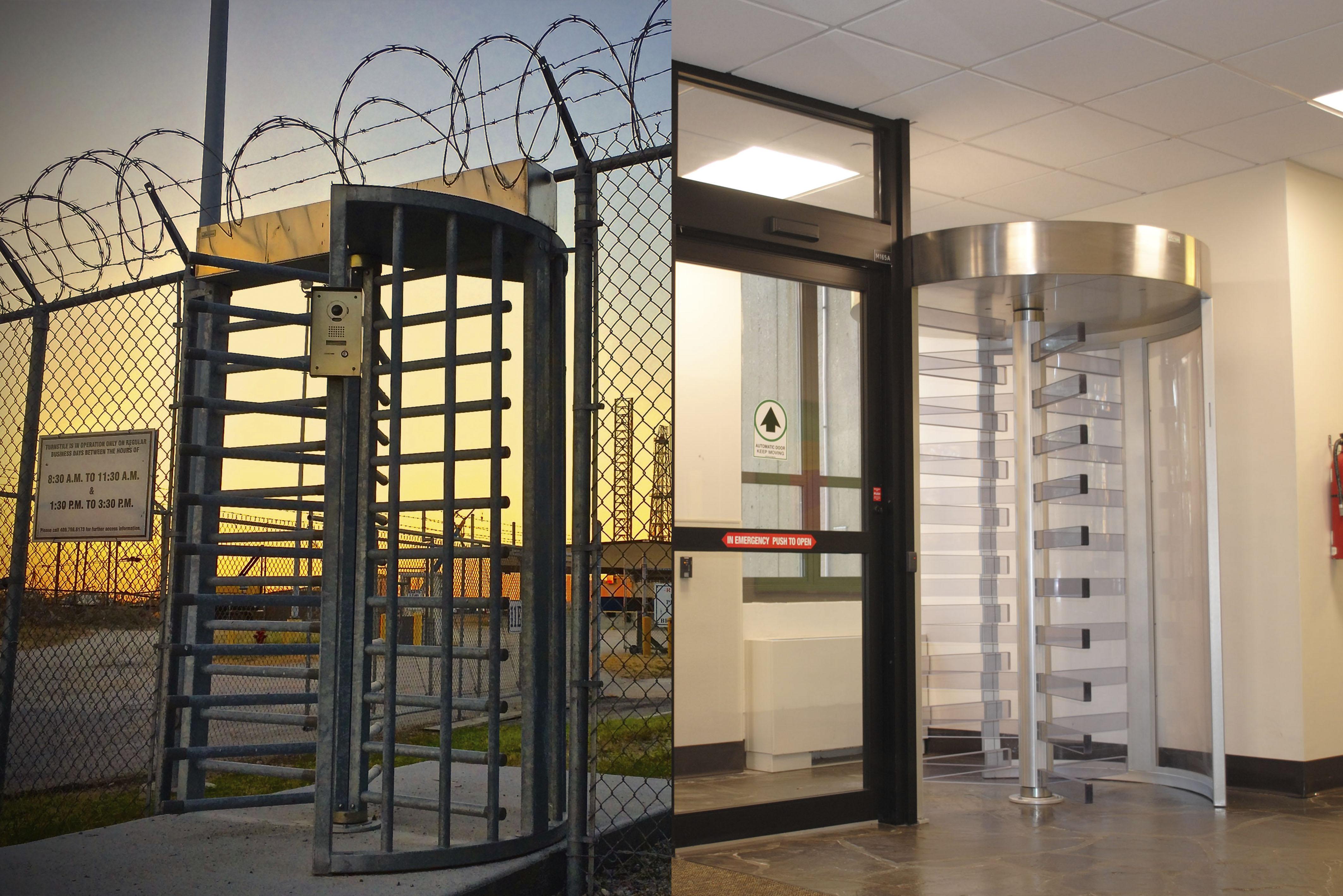 Torniquetes de altura completa interiores vs. exteriores